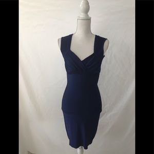 H & M Royal Blue Fitted Dress ( Medium)